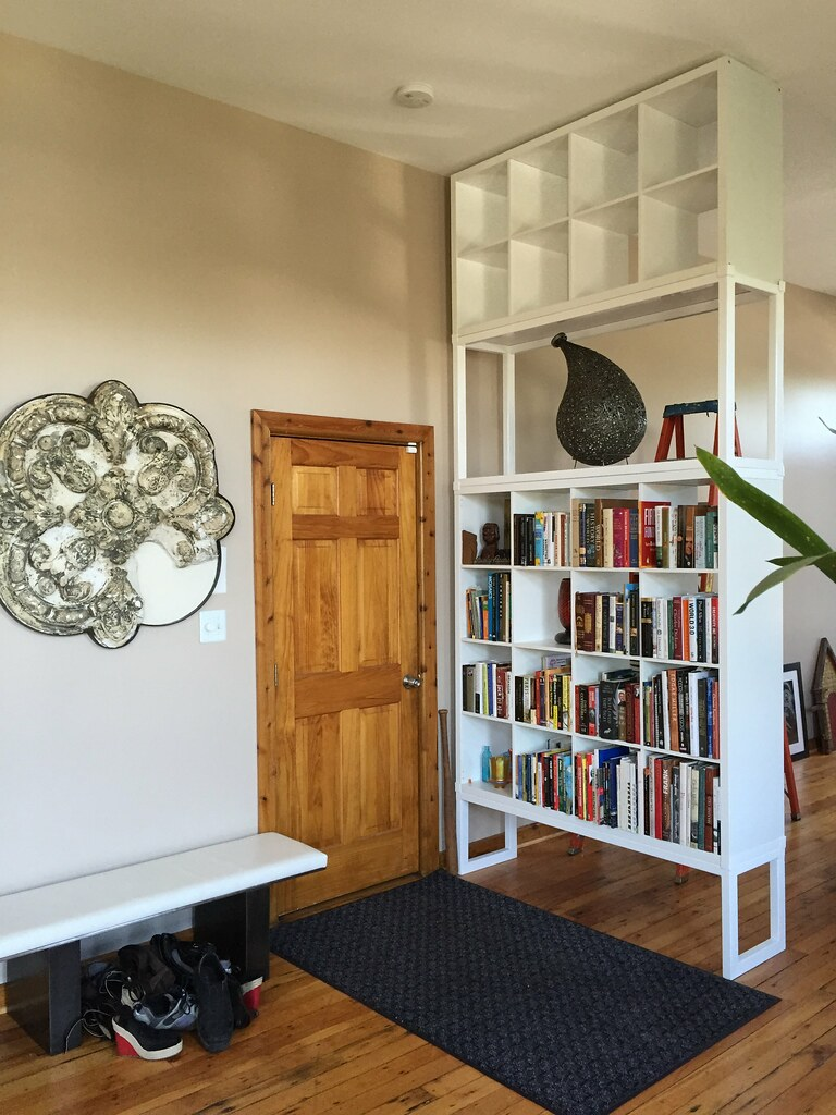 my ikea-hack > kallax- becomes a floor-to-ceiling-bookshel…   flickr
