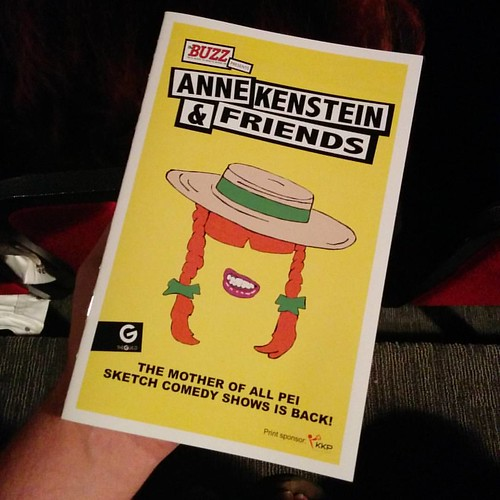 Show about to begin #pei #charlottetown #theguild #annekenstein #theatre #anneofgreengables