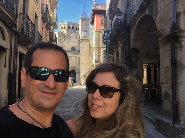 Sele y Rebeca en Ourense