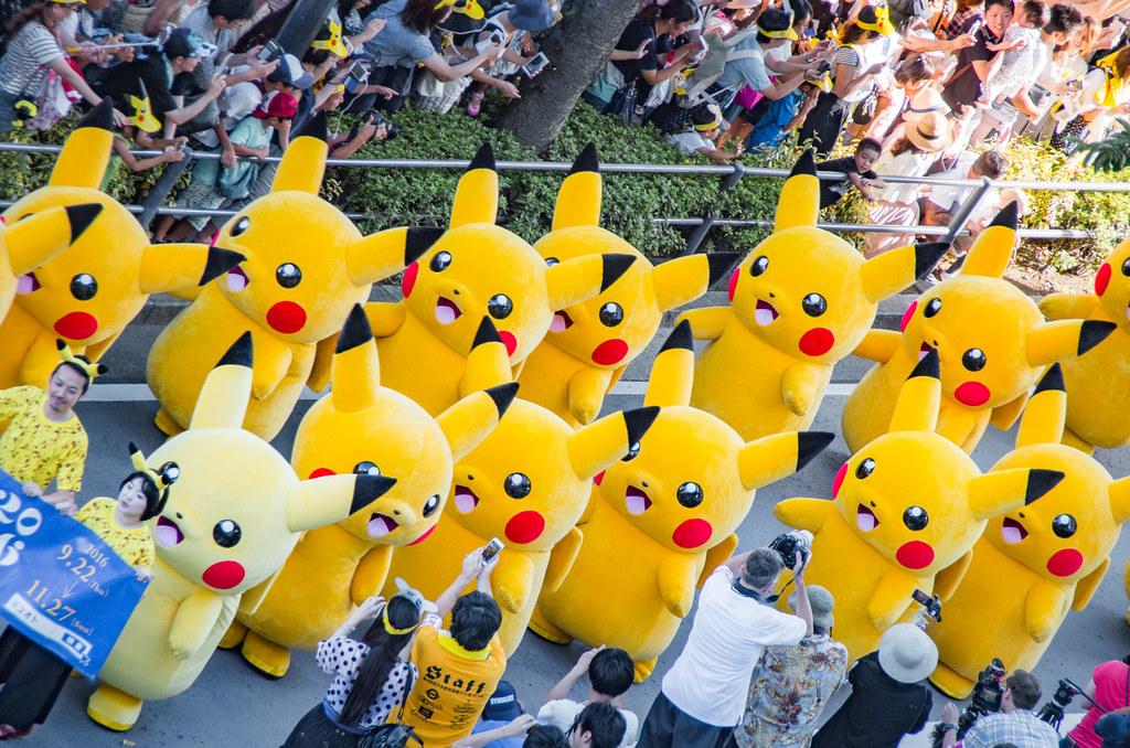 """「ピカチュウ大量発生チュウ!」ピカチュウ・ザ・パレード at 横浜みなとみらい / Pokemon """"Pikachu Outbreak!"""" parade(Pikachu Tairyou Hassei-chu!) 2016 at Yokohama Minatomirai"""