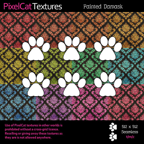 PixelCat Textures - Painted Damask
