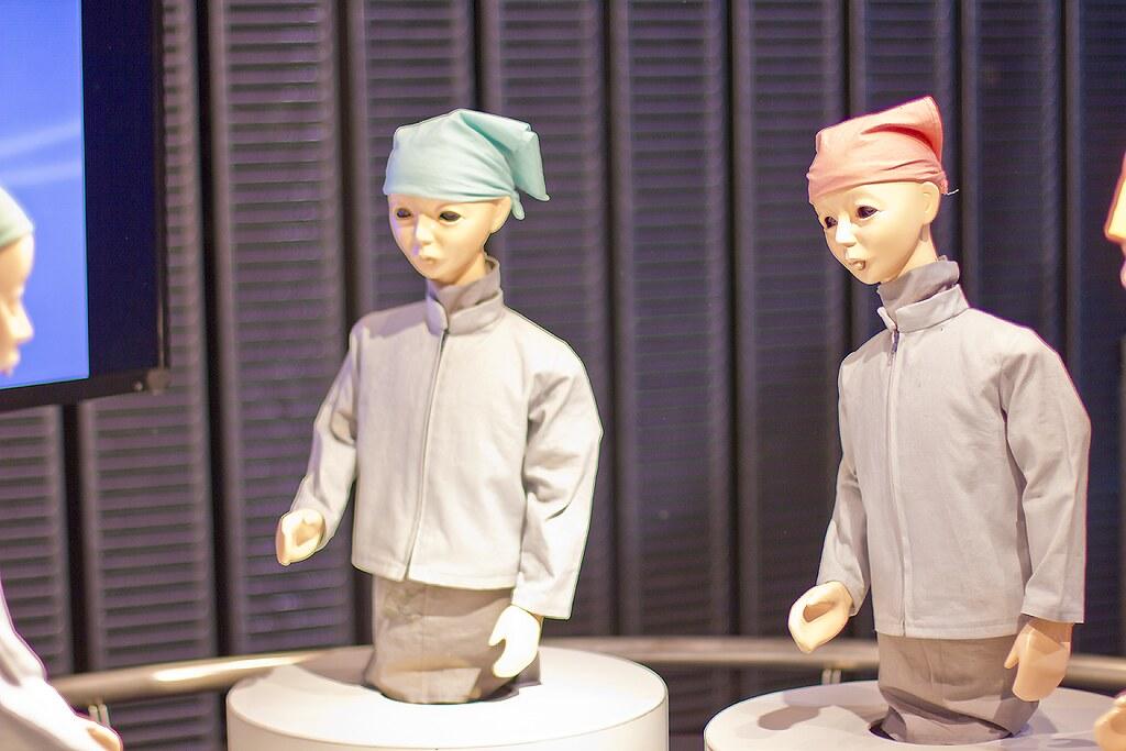 robot miraikin emerging technology japan museum science