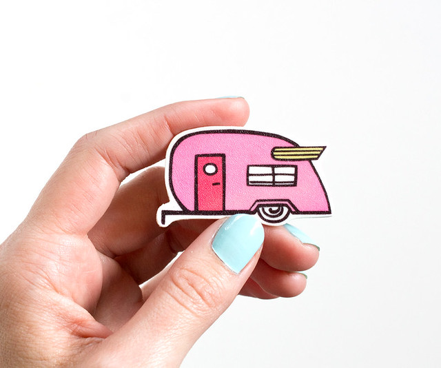 Illustrated Shasta Trailer Pin by Vitamini