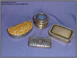 קופסאות כסף בשילוב עם חומרים שונים כחלק מהאוסף של  קופסאות למוצרי עישון