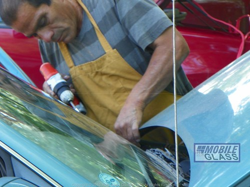 Austin Mobile Glass Technician Removing Cowl For Windshield Replacement