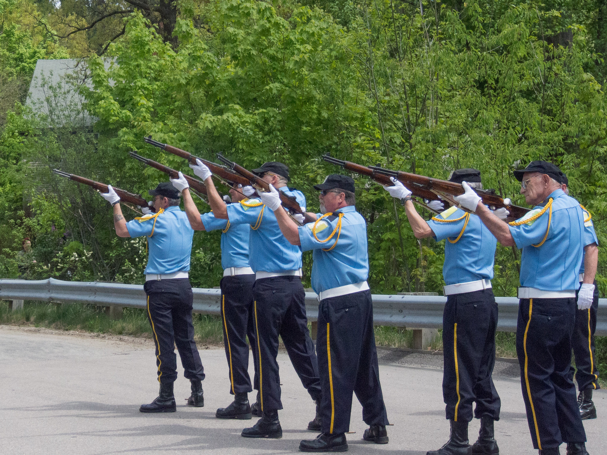 Memorial Day Rifle Salute