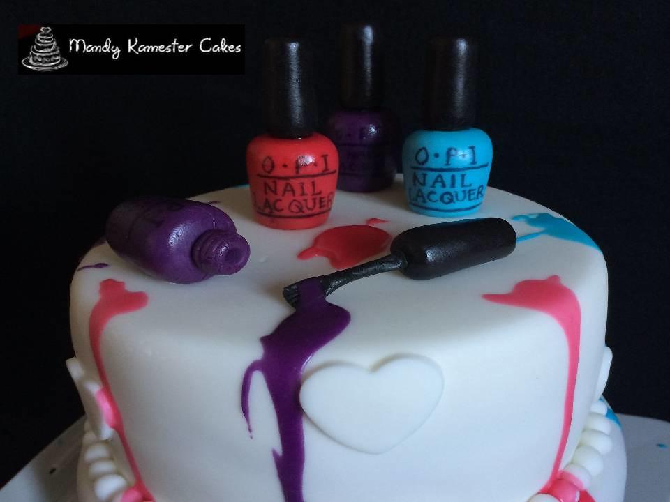 Nail Varnish Cake This Was A Fun Cake To Make Opi Nail Va Flickr