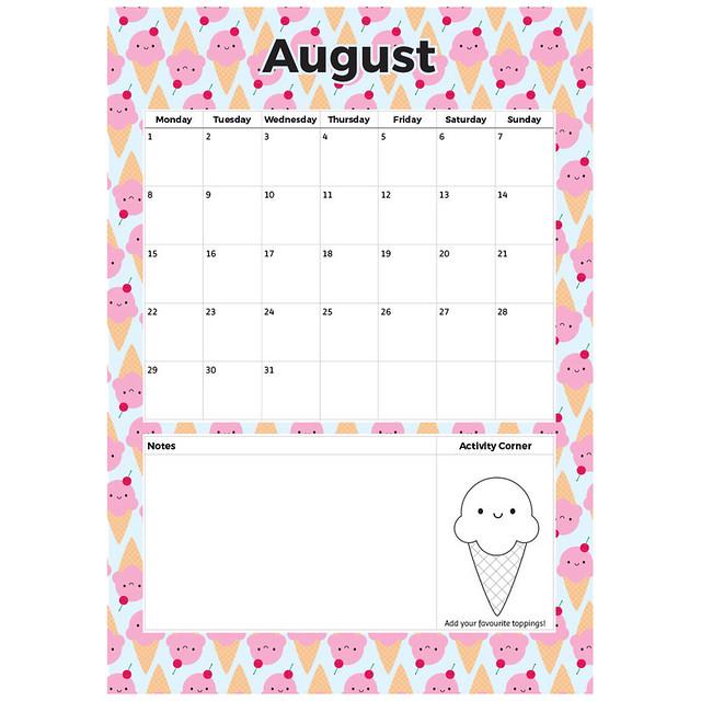Free August Printable Planner