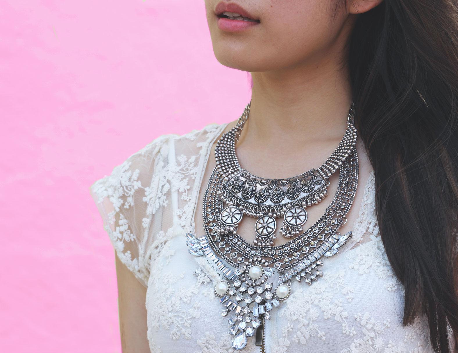 Marina Collections bib necklace