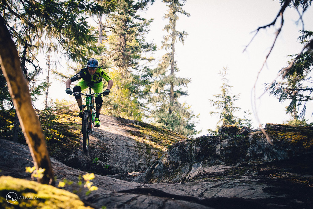 Dylan Wolsky on High Society trail, Whistler
