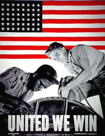 World War II Poster - United We Win