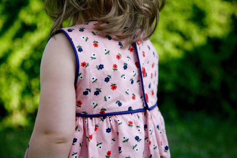 Cotton + Steel Geranium  dress