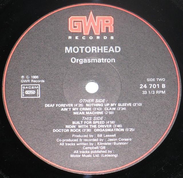 Motorhead  Orgasmatron 7497