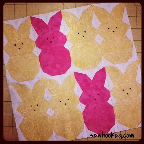 "Peeps! 10"" paper pieced pattern"