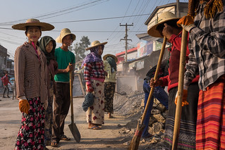 Construction workers - Taungyyi, Myanmar