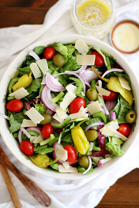 Big Italian Salad | girlversusdough.com @girlversusdough