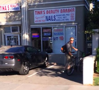 Scary biker in Willow Glen CA 13 July 2016