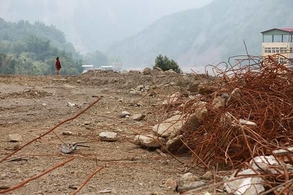 八八風災重創南沙魯,帶來財損及人命傷亡。圖片來源:家在南沙魯。
