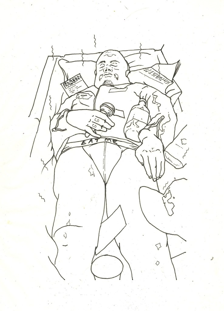 Gg Allin In The Casket The Original Drawing Form The Gg