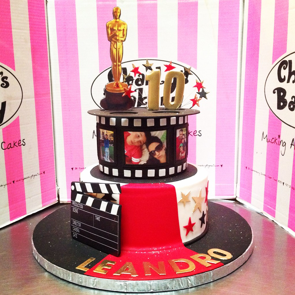 Red And White Themed Birthday Cake