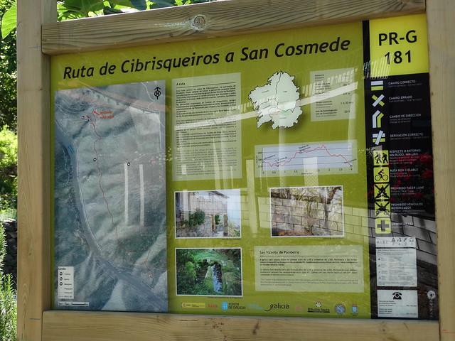 Panel Informativo PR-G 181 Ruta de Cibrisqueiros a San Cosmede