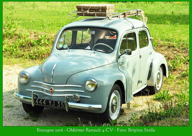 Entdeckt im Bretagne-Urlaub 2016: Französischer Oldtimer Renault 4 CV - Foto: Brigitte Stolle 2016