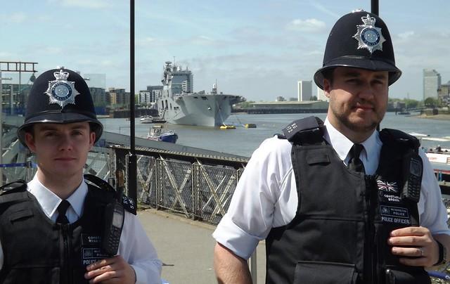 The Met looking after HMS Ocean @ Greenwich 10-05-15