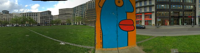 Berlin Wall remnants panorama