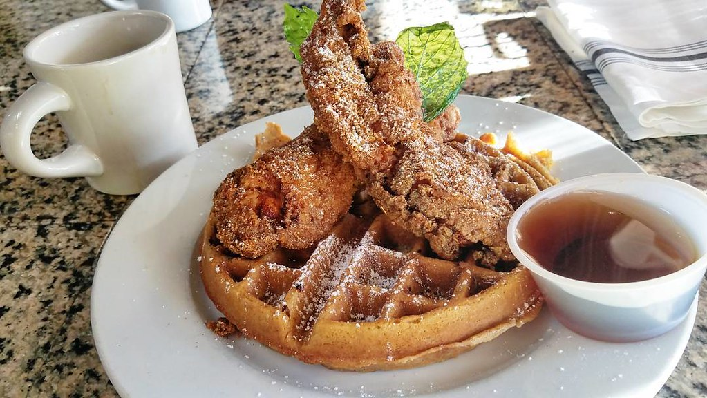 Heaven on a plate? Depot Street Tavern's chicken and waffles.