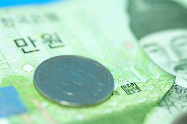 100원 동전 지폐 100won coin banknotes