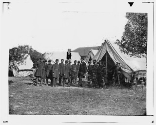 President Lincoln with General George B. McClellan and Group of Officers - Antietam, MD, October 3, 1862 - Newell F. Hill served at Antietam, MD | by serendipitysusan