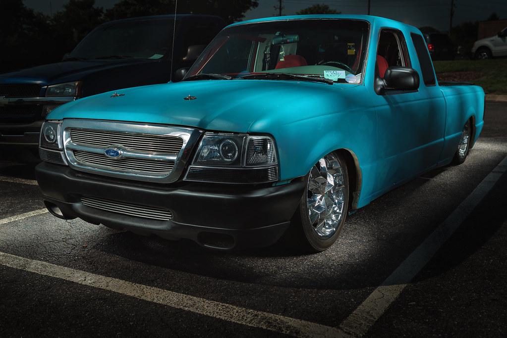 Ford Ranger Slammed Hominy Valley Youth Cheerleading Fundraising Car Show 2016