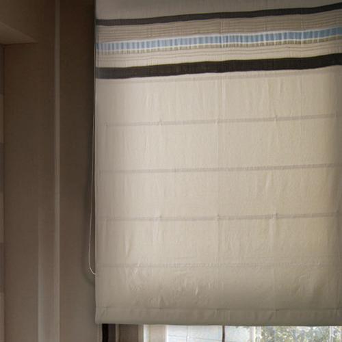 簡約緞帶棉麻(獨家) 簡約無印風 半遮光無接縫窗簾布 DA3990002