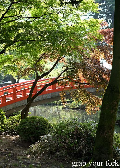 Bridge over the river at Toyama Castle Park, Toyama