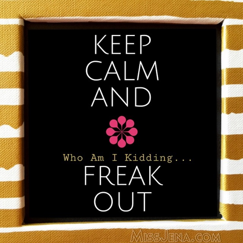 Keep Calm and freak out meme
