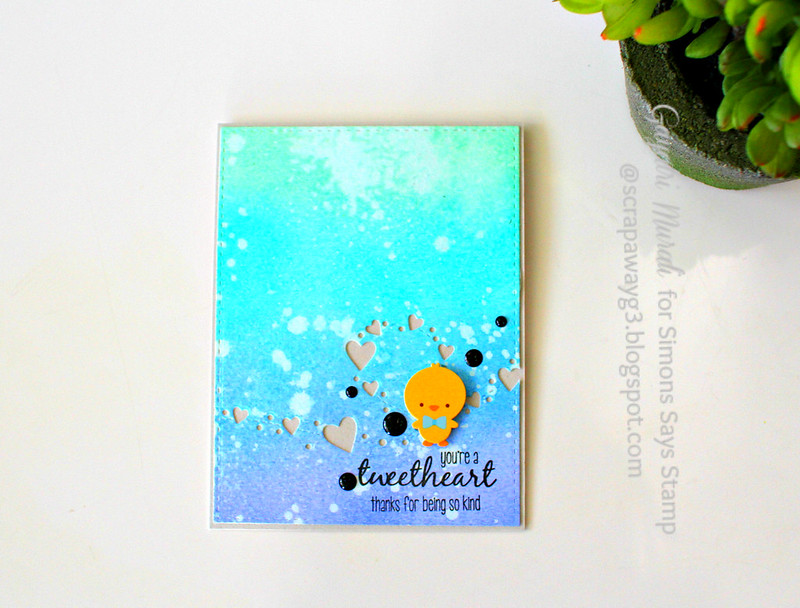 Tweetheart card flat