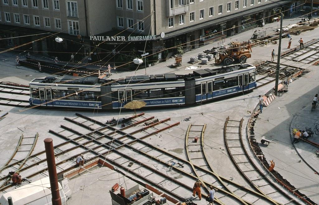Zuletzt wurde die große Gleiskreuzung am Ostfriedhof im Ra…   Flickr