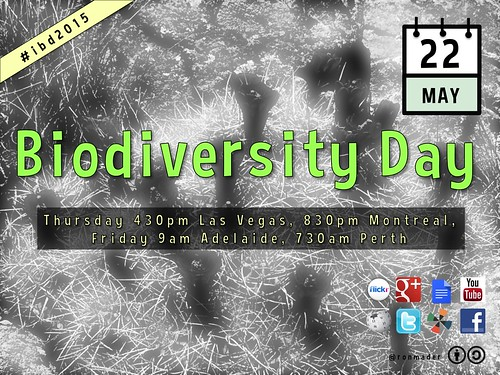 Please share the poster for our Biodiversity Day Hangout #idb2015 @RichardMcLellan @CBDNews @UNBiodiversity
