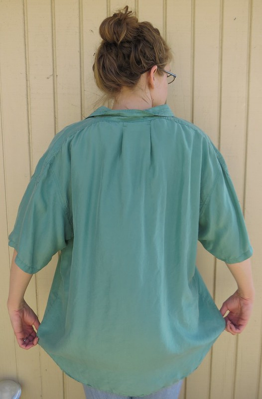 Silk and Lace Blouse - Before