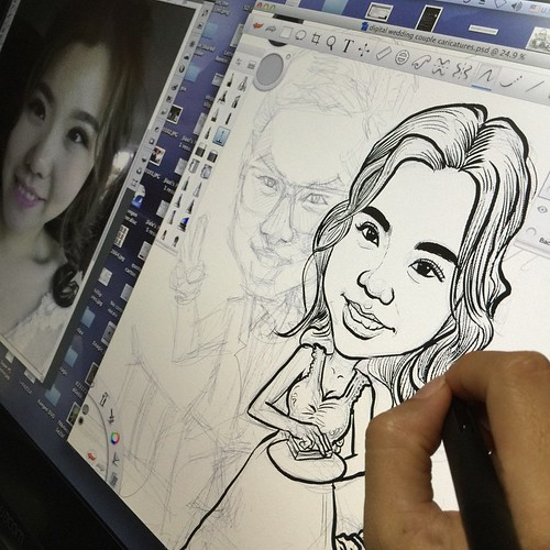 Inking the bride......