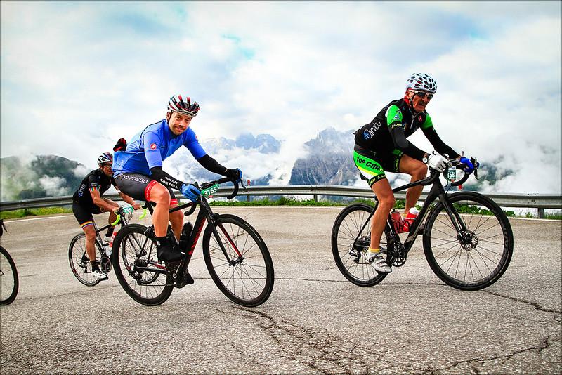 Climbing Passo Sella