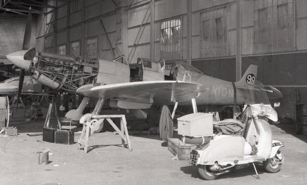 Twin Seat Wwii Prototype Supermarine Spitfire Trainer The Only Mark 8 Converted Moped Kte 623