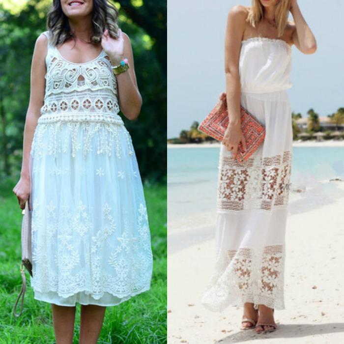 vestido largo blanco verano