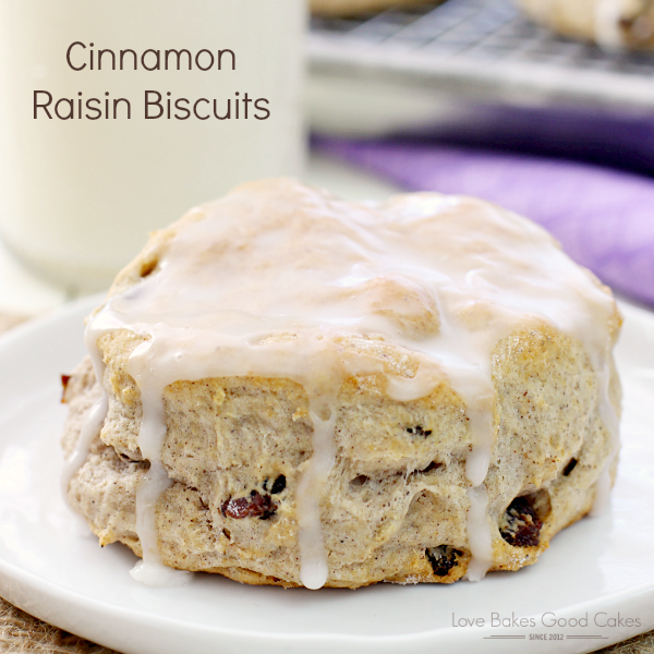 A quick and easy breakfast treat, these Cinnamon Raisin Biscuits will be a hit with the family!