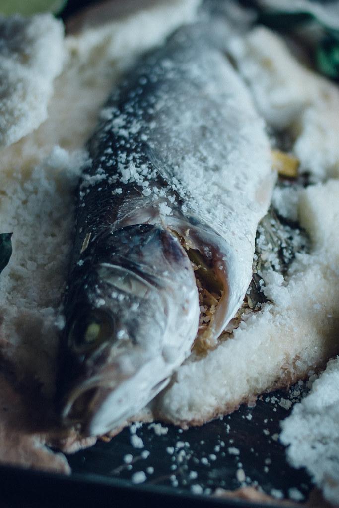 Salt Baked Lemongrass Sea Bass