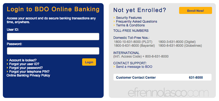 How to buy load using BDO Online Banking step 2
