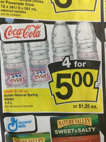 Evian Natural Spring Water 1.5L $1.25
