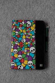 My colorful skulls mini iPad cover