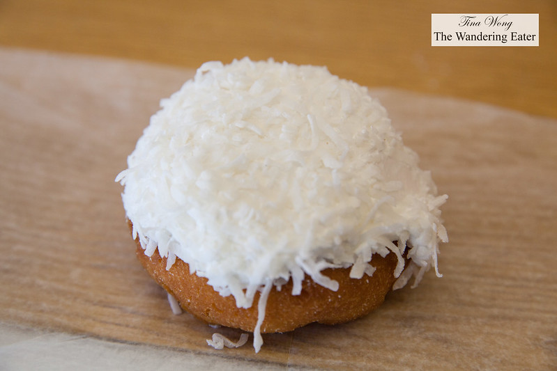 Coconut doughnut filled with marshmallow cream fromHoehn's Bakery