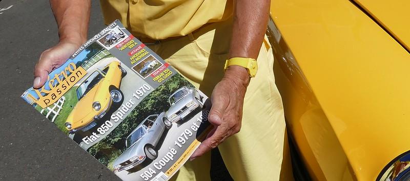 FIAT Spider Bertone 850 Abarth - Dourdan Dim 07 Août 2016 28214989274_21e311ba52_c